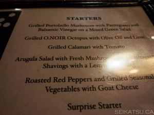 O.Noir Restaurant Toronto