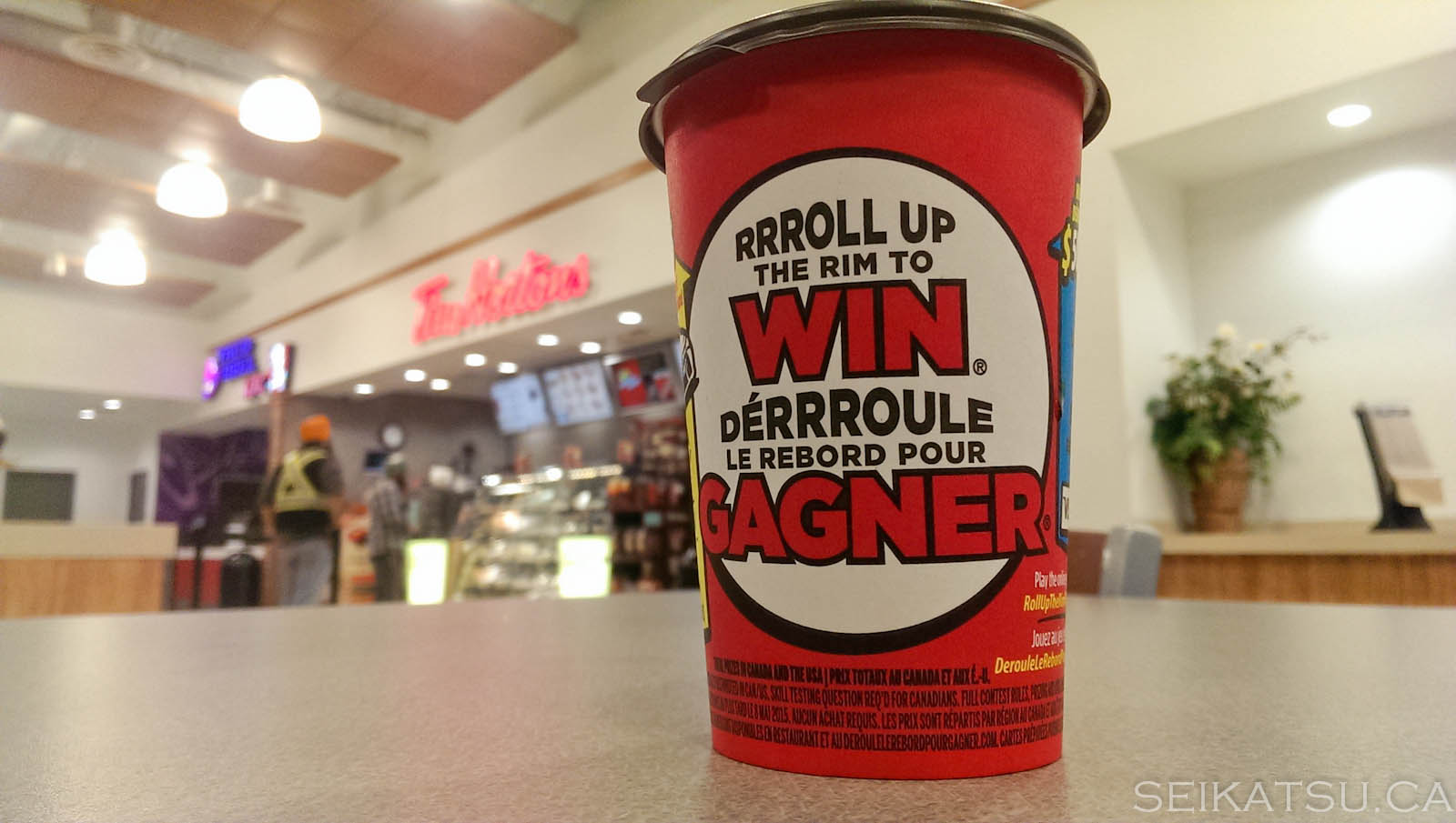 Roll Up The Rim Cup